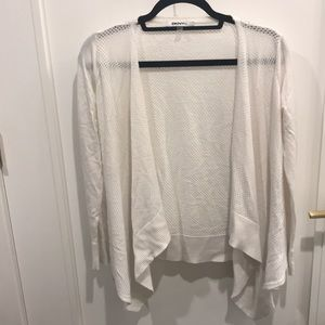 DKNYC white high-low sweater. Super soft!